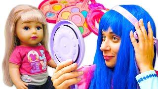 Видео приколы онлайн Принцессы Диснея Кто самая красивая Игры макияж и прически для девочек