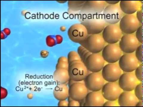 Cu-Zn Electrochemical Cell Animation