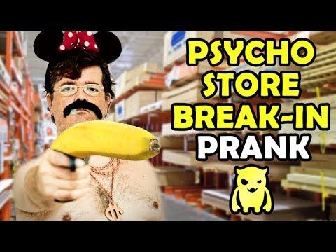 Psycho Store Break In Prank - Ownage Pranks