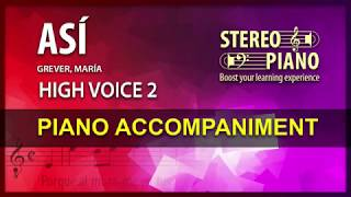 Así / Karaoke / Grever / High voice (2)