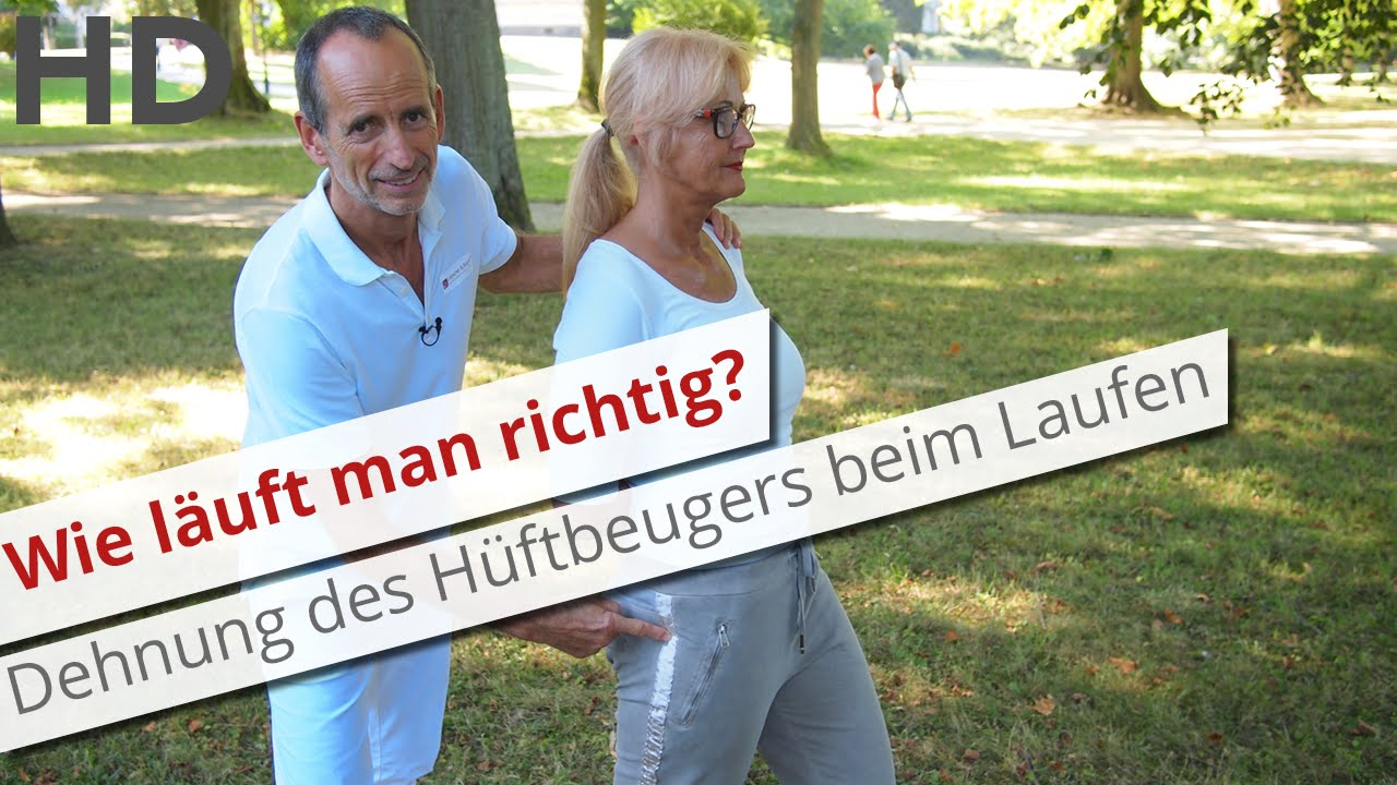 wie l uft man richtig dehnung des h ftbeugers beim laufen joggen gehen youtube. Black Bedroom Furniture Sets. Home Design Ideas