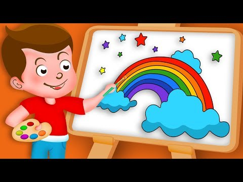 Drawing Rainbow Drawing Paint And Colouring For Kids | Kids Drawing TV