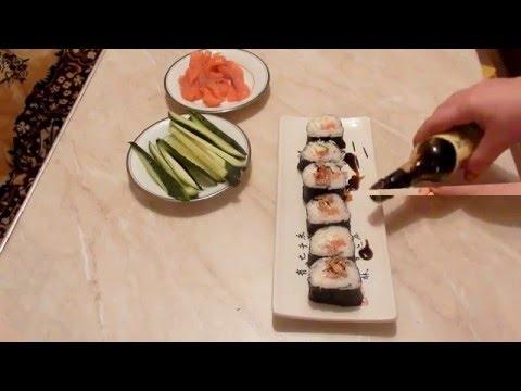Как сделать суши и роллы дома видео прикол!!