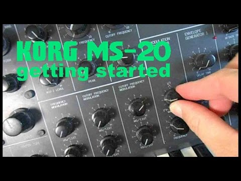 KORG MS-20 Synthesizer Getting Started EASY Video Demo