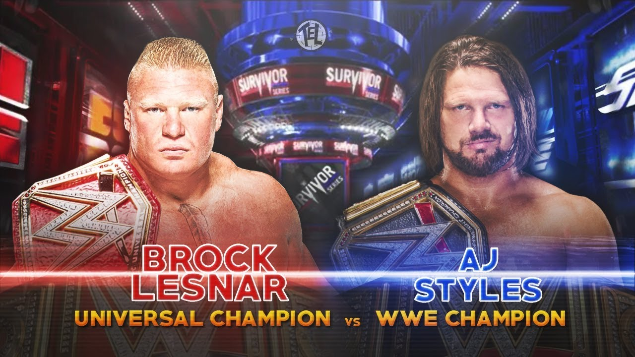 Image result for lesnar styles survivor series 2017
