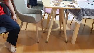 의자 발캡  / 의자 잡음과 기스 사라짐