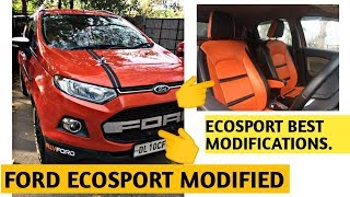 Ford Ecosport modified | Ford Ecosport accessories | Exterior and Interior modifications | Price?