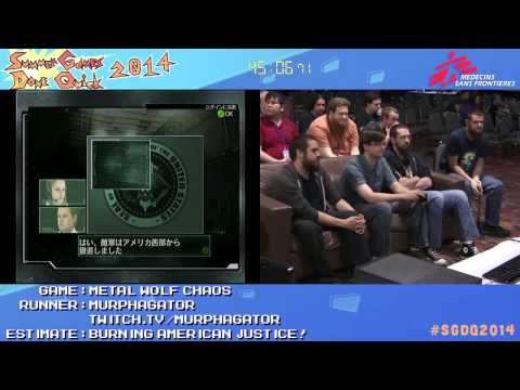Metal Wolf Chaos by MURPHAGATOR! in 1:50:53 - SGDQ2014 - Part 135