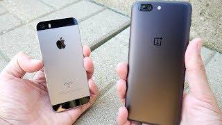 iPhone SE vs OnePlus 5 Speed Test!