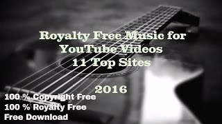 Download Royalty Free Music for YouTube Videos 2016  Top 11 Sites
