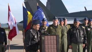 Opening Ceremony at Câmpia Turzii Airbase in Romania with the Canadian Forces and Romanian military