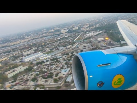 [4K] Uzbekistan Airways 767-300ER AWESOME DAWN TAKEOFF from Tashkent Airport