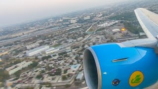 [4K] Uzbekistan Airways 767-300ER AWESOME DAWN TAKEOFF from Tashkent Airport