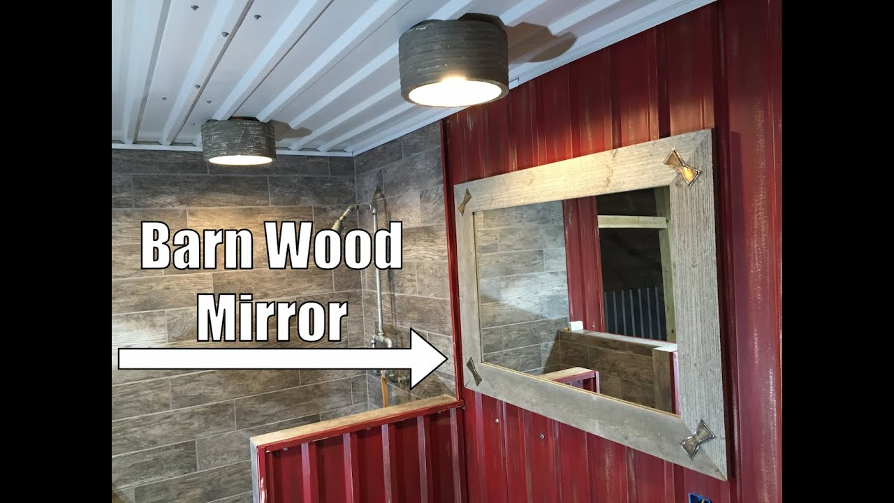 Custom Furniture   Rustic Barn Wood Mirror With Stainless Steel Bowtie  Inlays   Dallas, TX 75201   YouTube