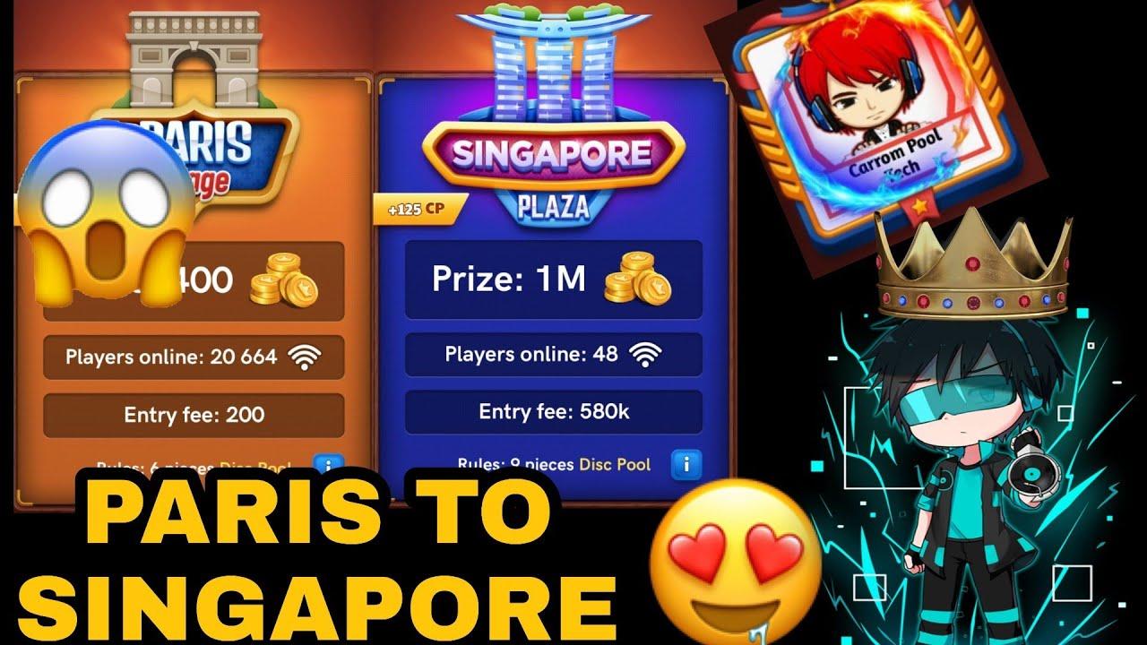 Carrom pool Paris to Singapore Gameplay   Carrom disc pool   Carrom pool game   #Carrompooltech
