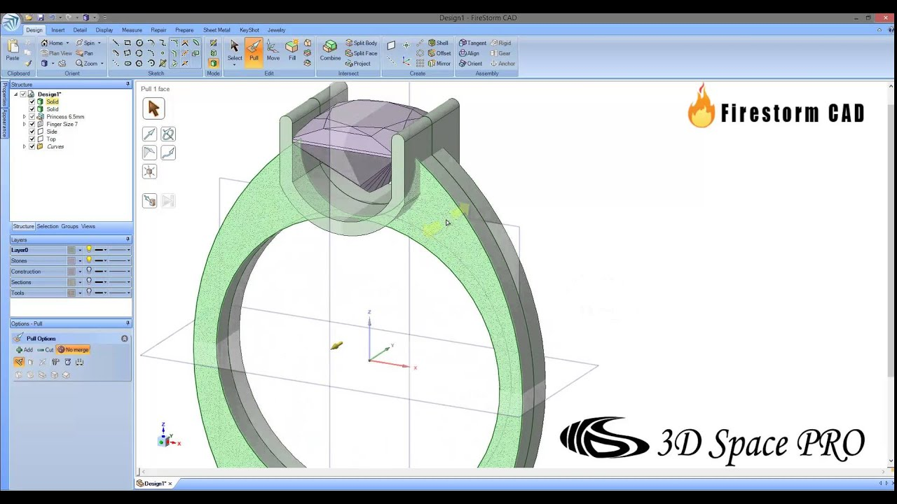 U shape ring design program firestorm cad 3d youtube for Innenraum designer programm