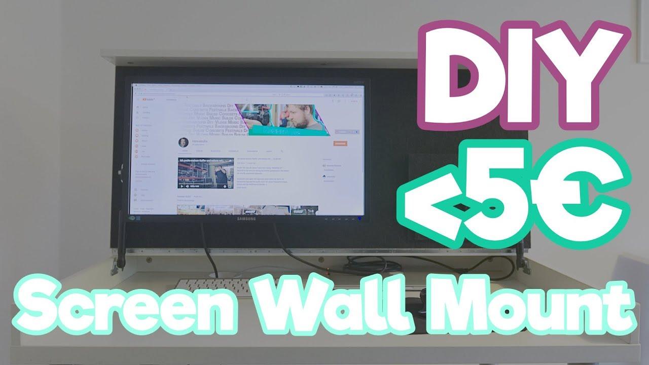 Diy Wandhalterung Für Monitore Kostet Weniger Als 5 Youtube
