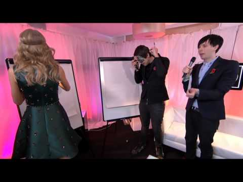 Dan & Phil with Taylor Swift at the Teen Awards 2013