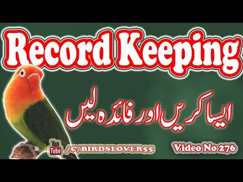 how to keep birds breeding records. Video No 276