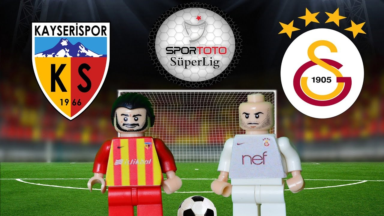 Kayserispor Galatasaray  Maç Özeti 1-3 (LEGO SÜPER LİG MAÇ ÖZETLERİ)/ Lego Football Goals Highlights