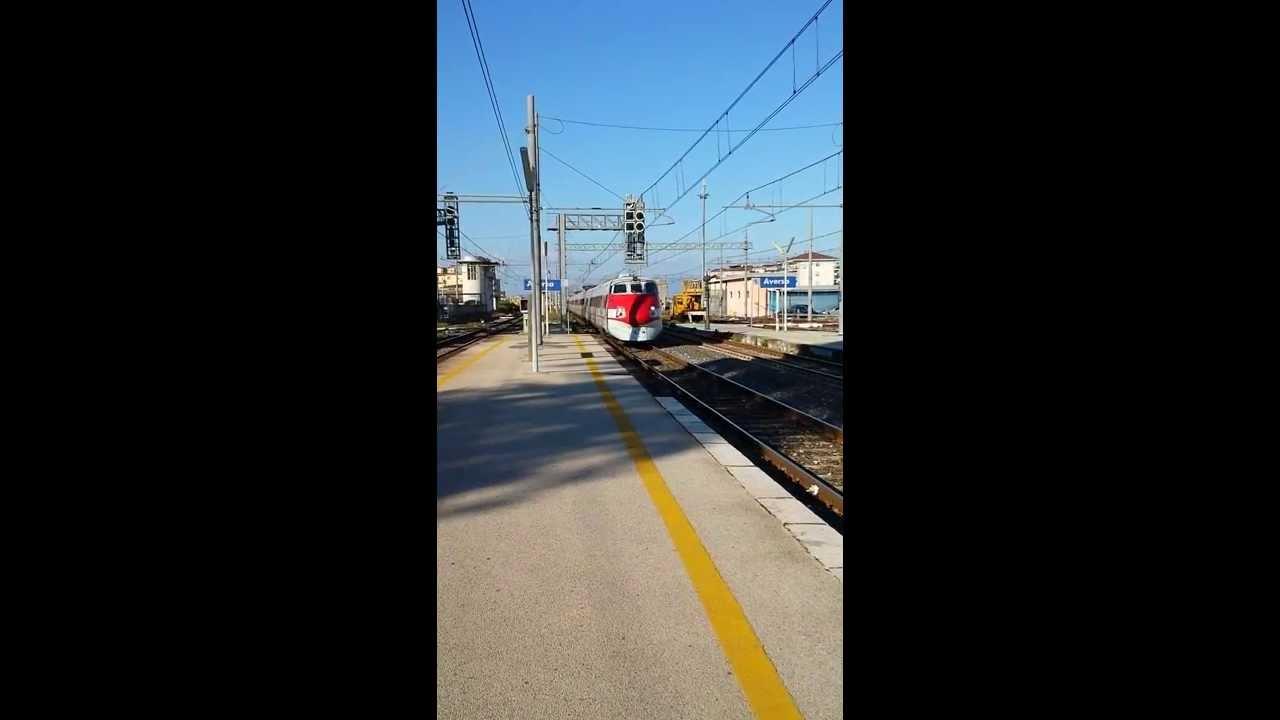 IC 552 Roma Termini - Reggio Calabria transito da Aversa Full HD Trenitalia ETR 450 Pendolino