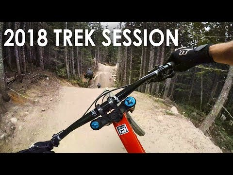 Demo Riding a 2018 Trek Session - Whistler Bike Park Downhill | Jordan Boostmaster