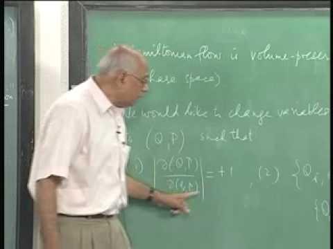 Mod-01 Lec-11 Hamiltonian dynamics (Part 2)