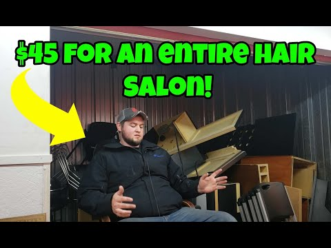 I bought a $45 Storage unit Jammed with a Full Beauty Salon!