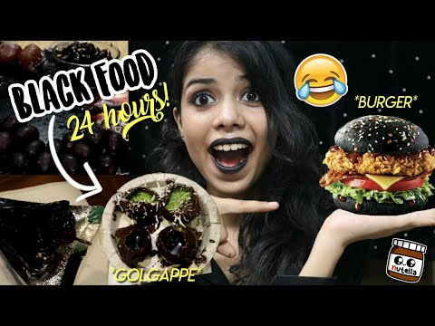 I only ate BLACK food for 24 HOURS!!