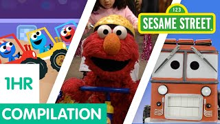 Sesame Street: Vehicles for Kids Compilation | Trucks, Trains, Cars, and more!