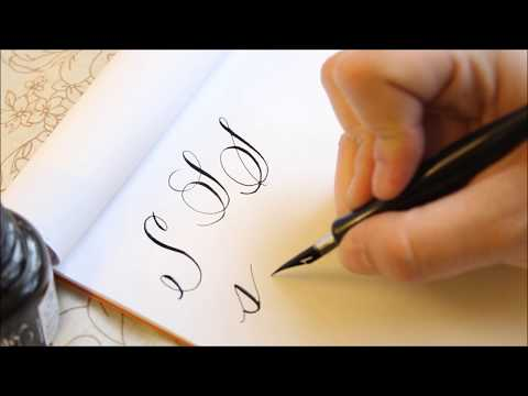The Letter S Basic Calligraphy Tutorial Youtube