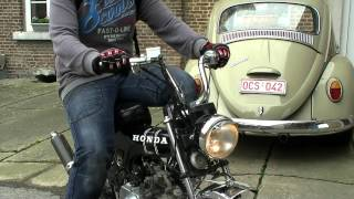 Honda Dax 50cc Startup,dragrace and driving!