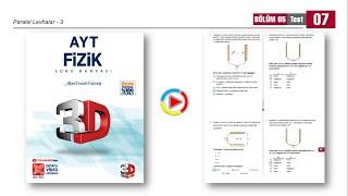 3D AYT Fizik Soru Bankası 5.Bölüm Test-7 (Paralel Levhalar-3) [2021]