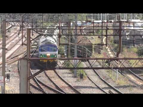British Rail Willesden Junction Trains Freight Aggregates Passenger 24th August 2016