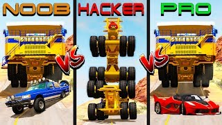 Beamng drive - NOOB vs PRO vs HACKER crashes #3