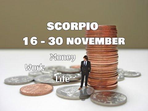 SCORPIO MONEY-WORK-LIFE 16-30 November 2017 In-Depth Tarot