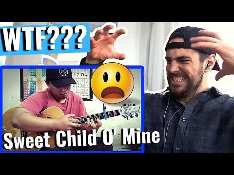 Sweet Child O' Mine – Guns n' Roses – Alip Ba Ta (fingerstyle cover)║REACTION!