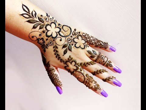 Easy Beautiful Heena Mehndi Design for Hand