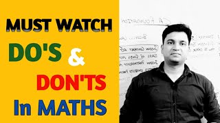 DO'S And DON'TS in CA Foundation MATHS Paper l MUST WATCH l CTC Classes