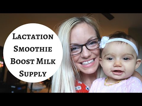 How To BOOST Breast Milk Supply FAST With Lactation Smoothie!