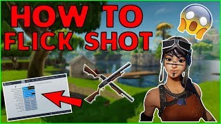 How To FLICK SHOT with SHOTGUNS On CONSOLE! How To Have Better Shotgun Accuracy! Fortnite(ps4)