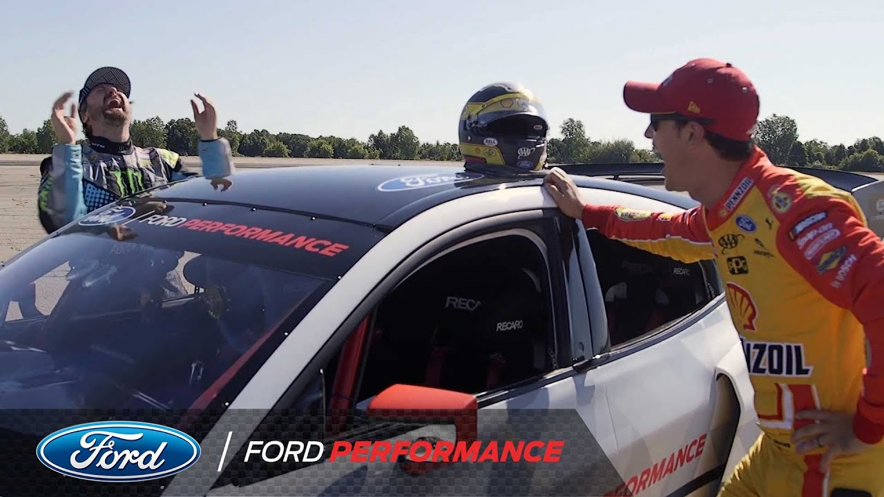 Joey Logano Gets Up Close & Personal With The Mach-E 1400 | Mustang | Ford Performance