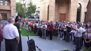 9.06 Live. Հերթական ակցիան՝ Կաթողիկոսի հրաժարականի պահանջով
