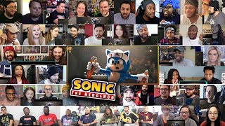 (10+ Youtubers) SONIC THE HEDGEHOG Official Trailer 2 REACTIONS MASHUP