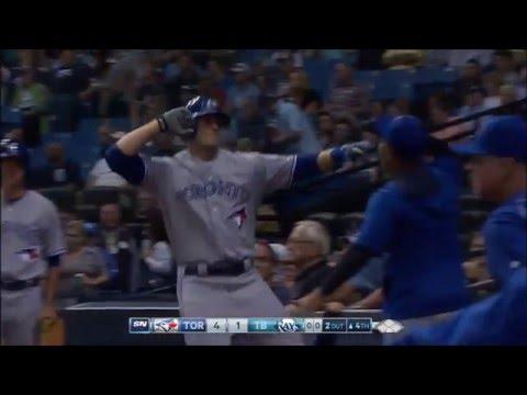 Michael Saunders Home Run vs Rays (1) - April 4 2016