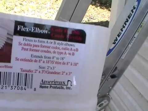 Rain Gutter Downspout Flex Elbow How To Install Youtube