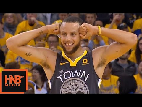 Golden State Warriors vs Houston Rockets 1st Half Highlights / Game 4 / 2018 NBA Playoffs