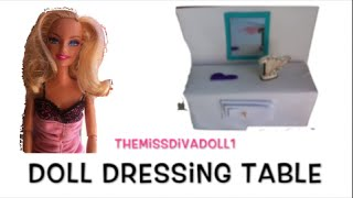 How To Make A Doll Dressing Table
