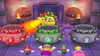 Mario Party Series Minigames - Mario vs Luigi vs Peach vs Wario