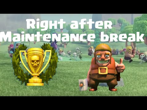 Clash of Clans-Right After Maintenance Break!!-Live attack/defence